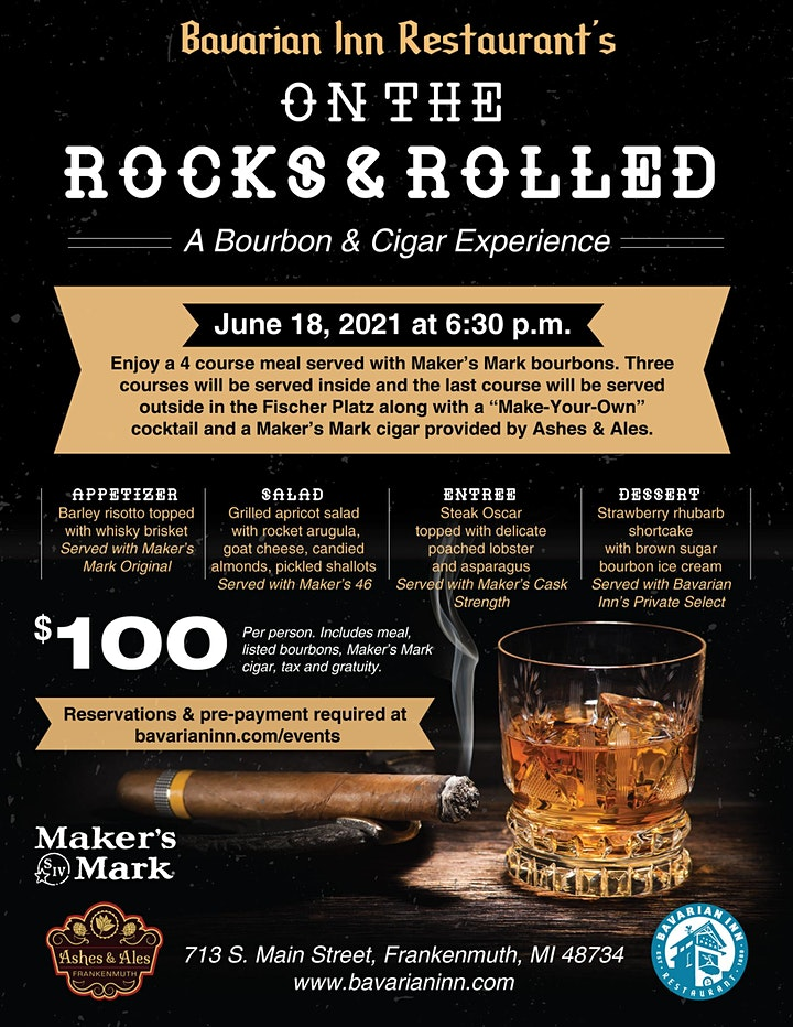On  the Rocks & Rolled  a Bourbon & Cigar Experience image
