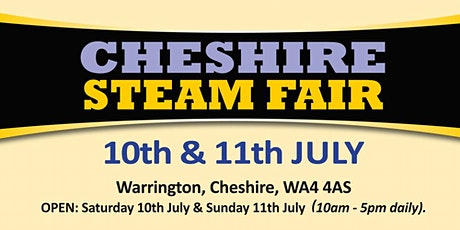 Cheshire Steam Fair 2021 - Public Camping tickets