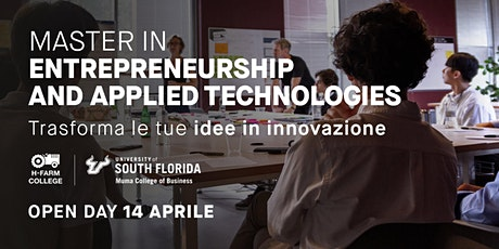 Open Day Master in Entrepreneurship and Applied Technologies biglietti