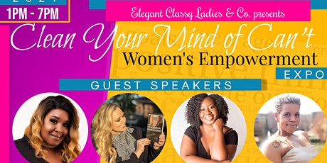 """Clear Your Mind Of Can't"": Women Empowerment Expo tickets"