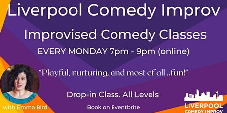 IMPROVISED  COMEDY Drop-in Class. All Levels. (online) tickets