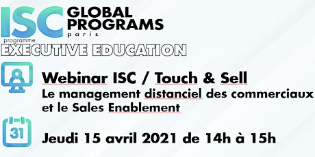 Webinar ISC / Touch & Sell - Digital selling et  Sales Enablement billets