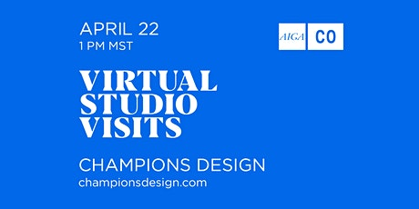 Virtual Studio Tour with Champions Design tickets