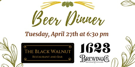 Beer Dinner with 1623 Brewing Co. tickets