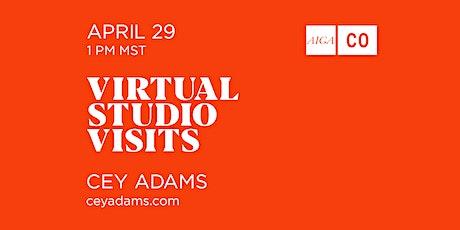 Virtual Studio Tour with Cey Adams tickets