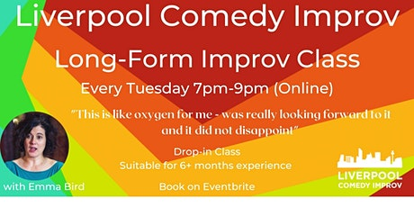 Long Form Improv Drop-in Class (Online) tickets