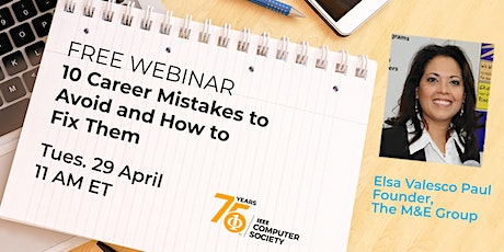 10 Career Mistakes & How to Avoid Them tickets