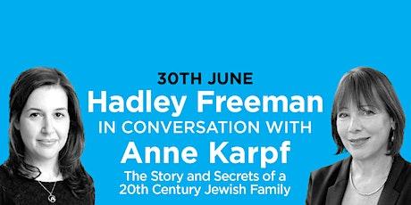 PHLS 2021: Hadley Freeman with Anne Karpf on 'A 20th Century Jewish Family' tickets