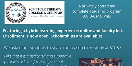 Scripture Therapy College & Seminary: scholarship available for BA tickets