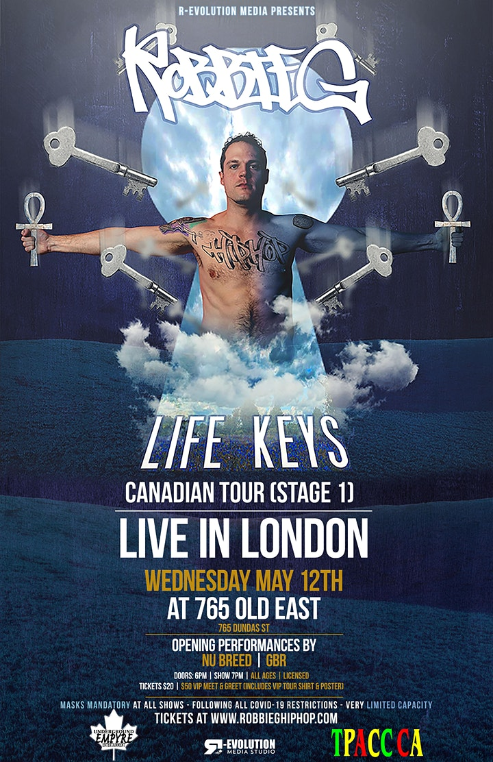 Robbie G live in London May 12th at 765 Old East Bar image