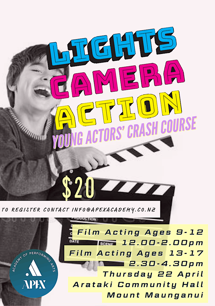 Lights, Camera, Action! Young Actor's Crash Course image