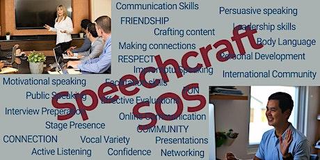 Speechcraft SOS - Develop your confidence with public speaking! tickets
