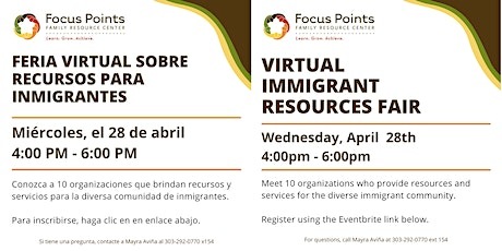 Virtual Immigrant Resources Fair tickets