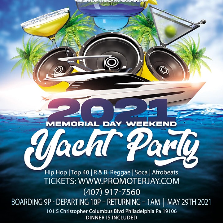 2021 Memorial Day Weekend Yacht Party image