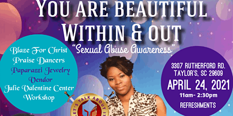 You Are Beautiful Within & Out Awareness on Sexual Abuse tickets