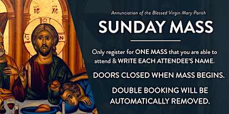Sunday Mass at Annunciation Parish tickets