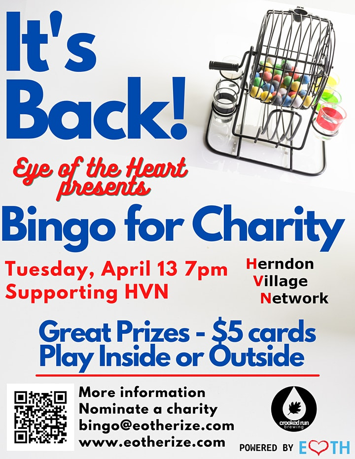 Eye of the Heart presents Bingo for Charity at Crooked Run Fermentation image
