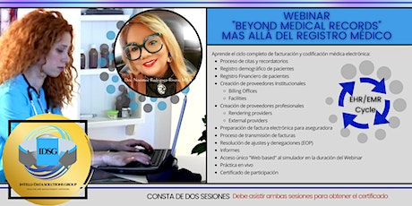 Webinar Beyond Medical Records  Registro Electrónico con Simulador Pt. 1 bilhetes