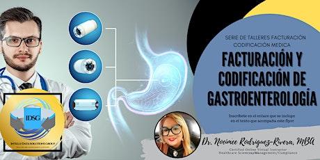 Webinar - Facturación y Codificación de Gastroenterología bilhetes