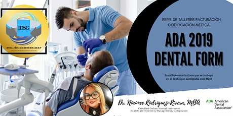 Webinar Preparación Formulario ADA Dental 2019 tickets