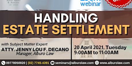 [PAID WEBINAR] Handling Estate Settlement tickets