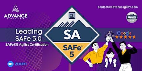 Leading SAFe 5.0 (Online/Zoom) June 05-06, Sat-Sun, New York Time (EST) tickets