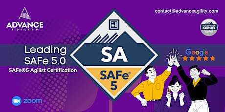 Leading SAFe 5.0 (Online/Zoom) June 14-15, Mon-Tue, New York Time (EST) tickets
