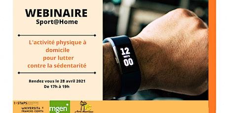 Sport@Home - Webinaire billets