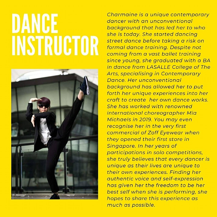 Beginners level Contemporary dance workshop image