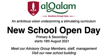 Open Day - Visit our new School Premises near Darnley tickets
