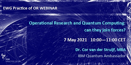 Operational Research and Quantum Computing: can they join forces? tickets