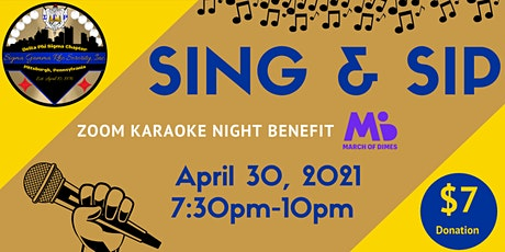 SING & SIP - Karaoke Benefit for March Of Dimes tickets