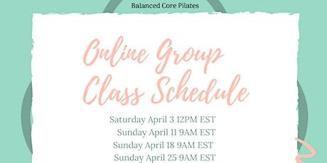 Online Pilates Class tickets