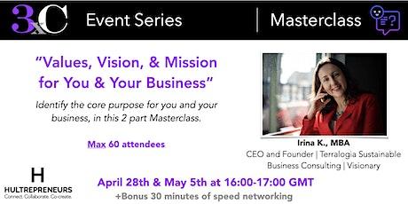 Hultrepreneurs - 3xC event series - Masterclass with Irina K. tickets