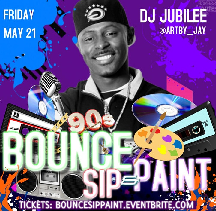 Bounce Sip and Paint ft DJ JUBILEE image