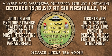 Strange Realities Conference 2021 tickets