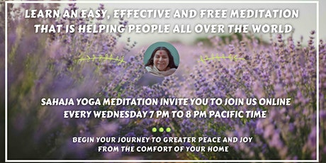 Learn an Easy, Effective and Free Meditation for everyone tickets