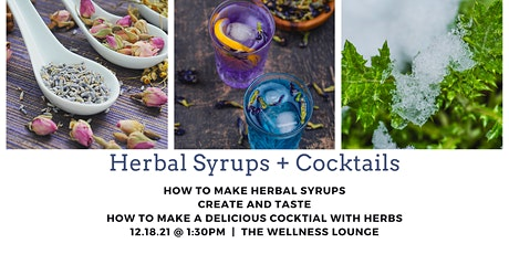 Herbal Syrups + Cocktails tickets