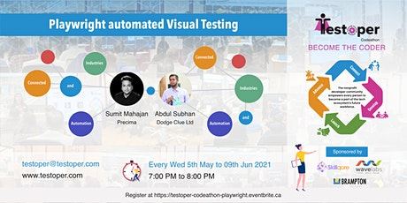 Codeathon -Playwright automated Visual Testing starts on 05 May 2021 tickets