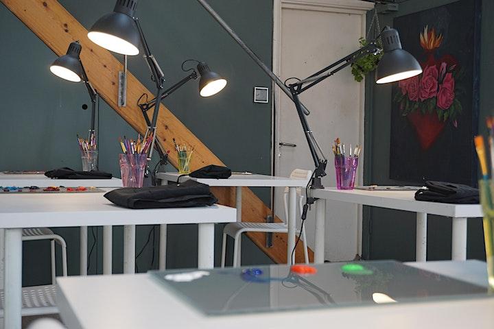 Floral Botanical Painting Workshop - no drawing skills needed image
