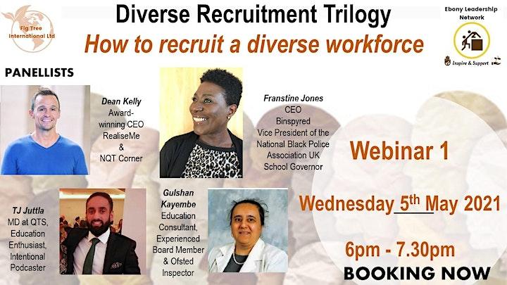 Diverse Recruitment Trilogy  Webinar 1 - How to recruit a diverse workforce image