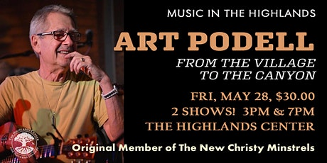 Art Podell - From the Village to the Canyon  - Music in the Highlands tickets