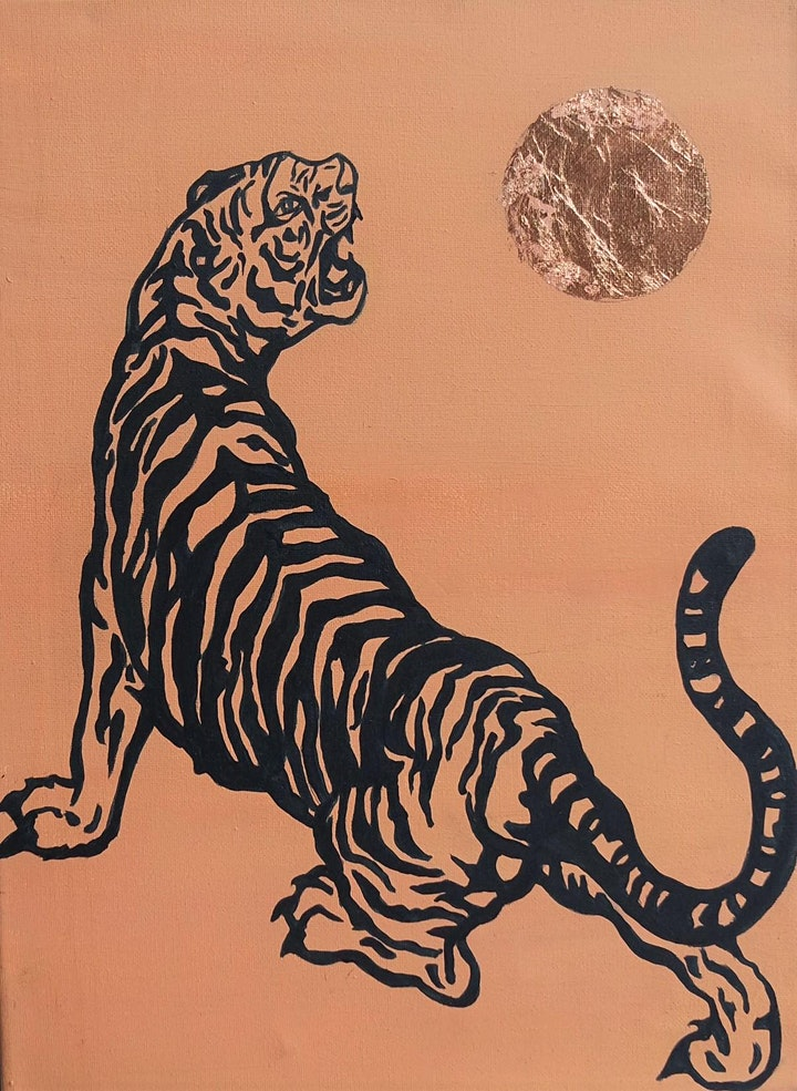 Gilded Tiger Painting Workshop - no drawing skills needed image