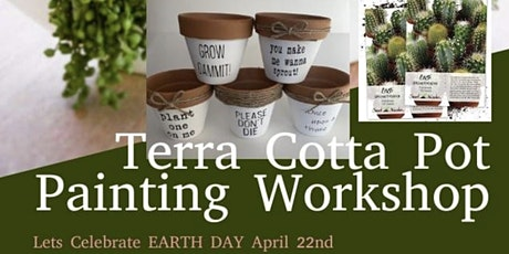 Terra Cotta Pot painting and succulent cacti planting tickets