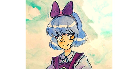 60min How to Draw Anime Art Lesson - Kiki @4PM  (Ages  6+) tickets