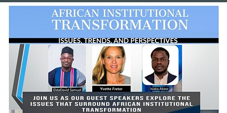 African Institutional Transformation: Issues, Trends, and Perspectives tickets