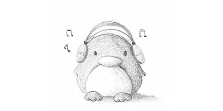 60min Animal Pencil Sketching Art Lesson - Musical Penguin @4PM (Ages 7+) tickets