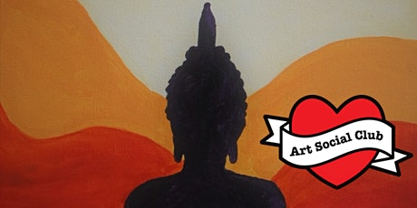 Meditating Buddah Painting Workshop - no drawing skills needed tickets