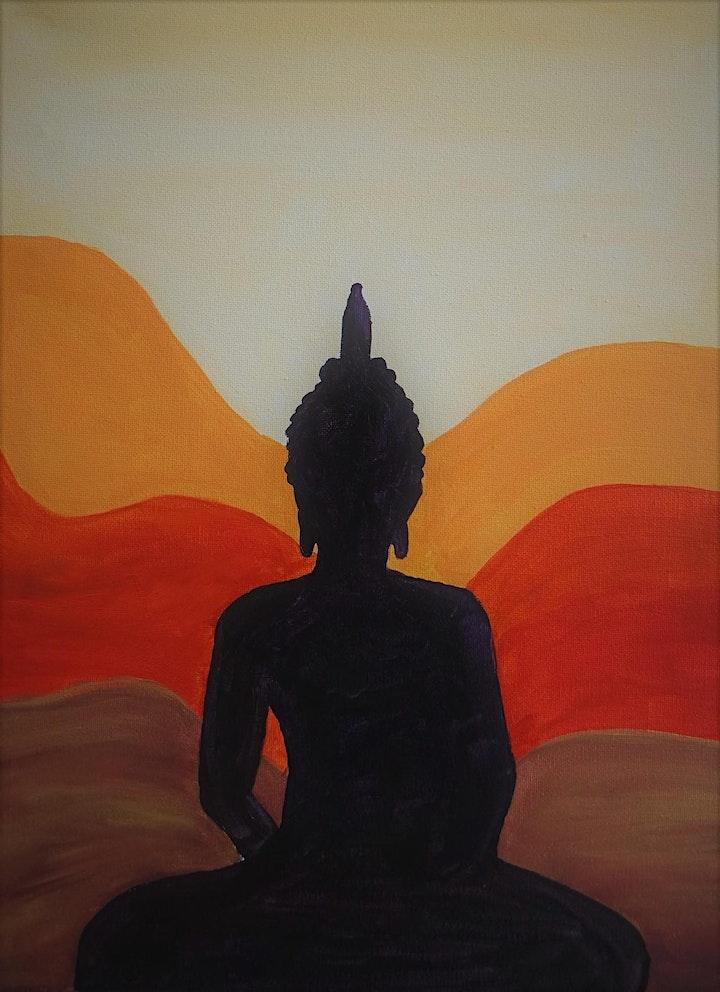 Meditating Buddah Painting Workshop - no drawing skills needed image
