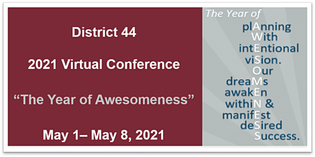 D44 The Year of Awesomeness 2021 Annual  Virtual Conference tickets